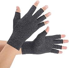 Guantes para la artritis Brace Master One, guantes de compresión y calor para las manos, articulación de los dedos, alivio del dolor reumatoide (Small, Black 1 Pair)