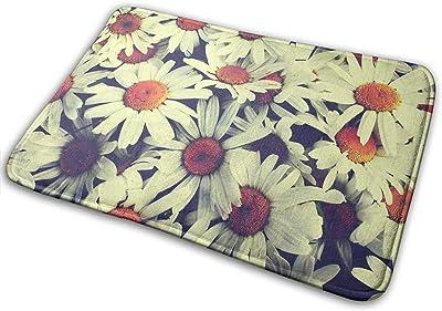 Non-Slip Doormats Vintage Flower Entrance Rug Indoor/Outdoor Carpet Absorbs Moisture Washable Dirt Trapper Mats
