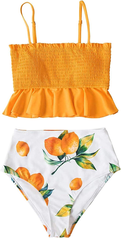 WHSHINE Two Piece Swimsuit for Women Tummy Control Bathing Suits Plus Size Sexy Tankini Strapless Bikini