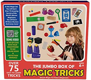 Beauenty Magic Toys Kit Set,Performance propswith Wand,Children's magic toy gift,Vanishing Coin magic props (Red box)
