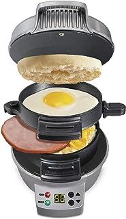 Petit-déjeuner Sandwich Maker avec minuterie, Non-Stick Pan Set pour Les œufs, frittatas, paninis, Pizza Poches & Autres P...