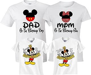 Birthday Boy/Girl Mickey and Minnie Custom Family Customized Shirts