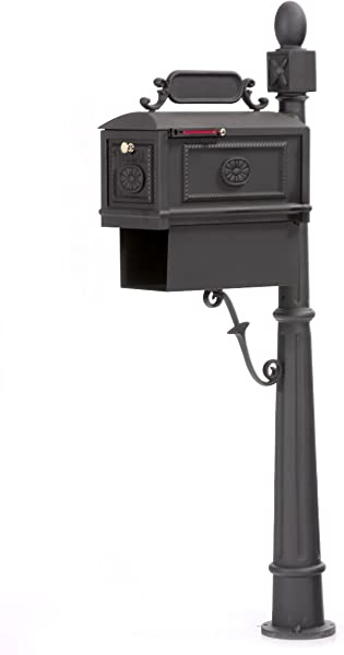 Contemporary Decorative Cast Aluminum Better Box Mailbox With Paper Box Black