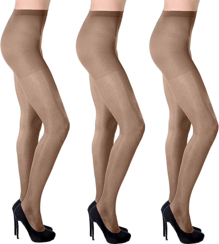 Women Sheer Pantyhose Shades of Nude Summer 20 den Aurellie 3 Packs