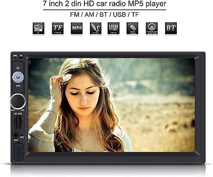 7 pulgadas 2 Din Reproductor Multimedia MP5 HD pantalla táctil Bluetooth GPS Estéreo Radio FM/USB / AUX / MP5 Player para coche