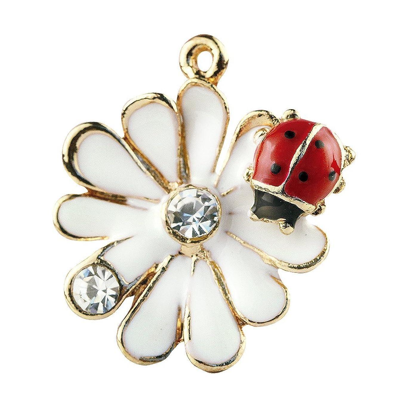 Creative DIY Daisy Ladybug Crystal Charms Pendants Wholesale (Set of 3) MH445