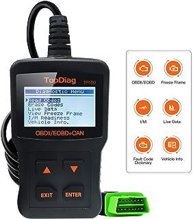 CarBest TP109 OBD Instrumento de diagnóstico   OBD2 Comprobador de coche   Herramienta de escaneo OBD   Lector de códigos ...