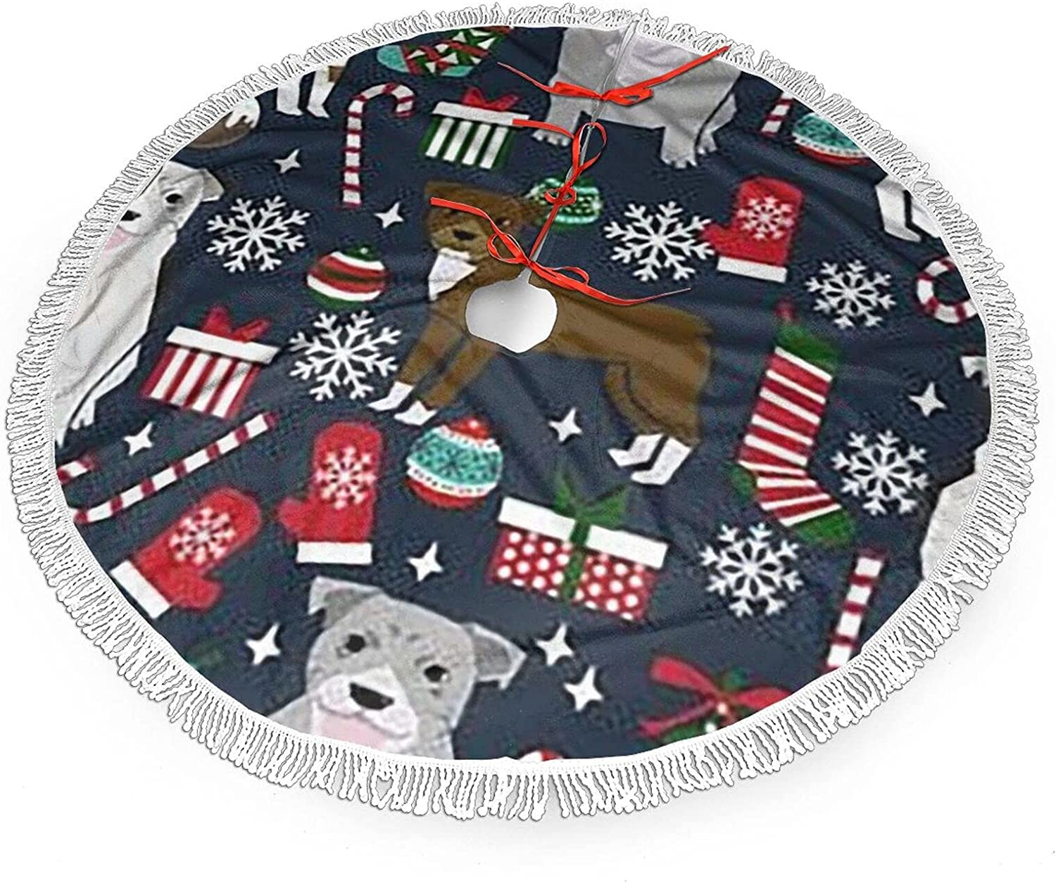 Pitbull Terrier Xmas Classic Selling and selling Dog Christmas Tree 30-Inch Skirt