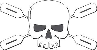 Skull Paddles Kayak,I Make Decals™, Kayaker Paddle Skull and Paddles Kayaking Sticker (kayak rowing decal) Sticker Die-cut Decal Sticker Graphic white vinyl