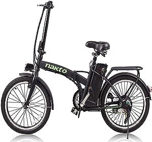 NAKTO 20″ 250W Foldaway/City Electric Bike