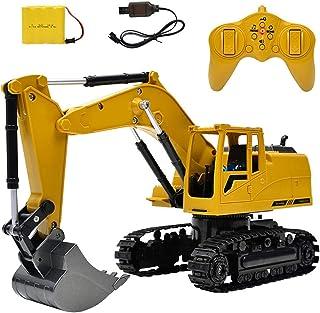 Toys&Hobbies 1:24 2.4G Wireless Remote Vontrol Excavator Eight Channel Alloy Excavator Children Charging Remote Control Ca...