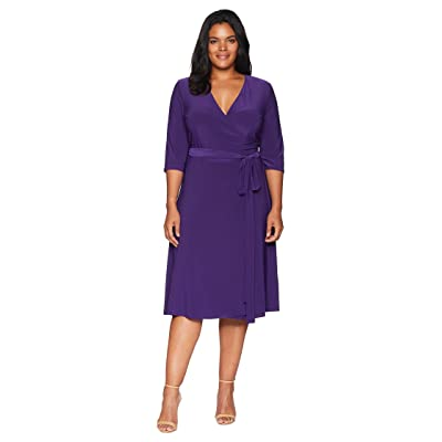 Kiyonna Essential Wrap Dress (Amethyst) Women