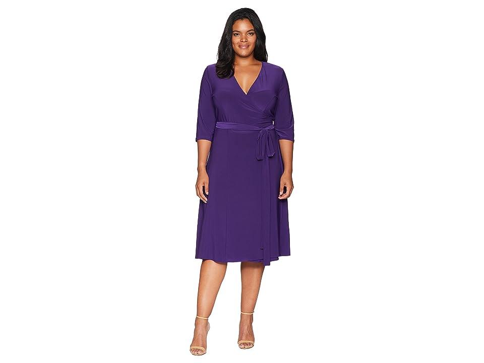 Kiyonna Essential Wrap Dress (Amethyst) Women