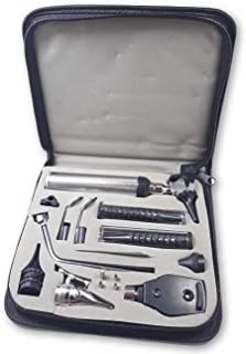 ZetaLife Diagnostic Set - Ear, Nose and Throat Exam Kit - Great for Medical Students! (Leather Case)