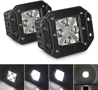DING.PAI Flush Mount LED Pod Light Combo Beam Fog Lights Offroad Driving X-Shape DRL Light Bar Super Bright Fit UTV ATV SU...