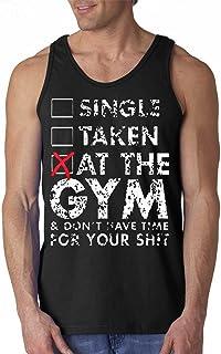 Freshtees - Single Taken at The Gym Workout Men's Tank Top T-Shirt