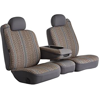 Saddle Blanket, Gray Fia TR42-34 GRAY Custom Fit Rear Seat Cover Split Cushion 40//60