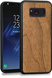 JuBeCo S8 Case,Galaxy S8 case, Wood Slim Case+TPU Bumper for Samsung Galaxy S8 (Wannut)