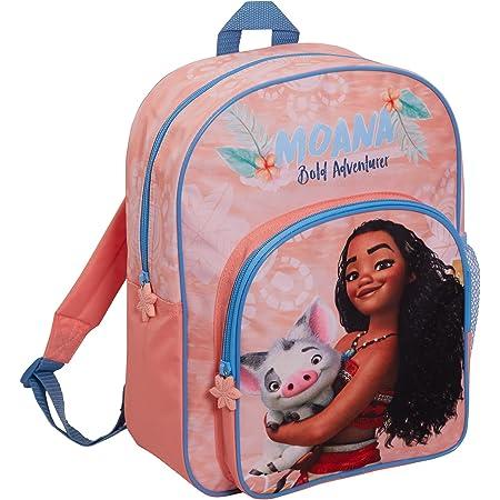 Disney Moana Bag Girls Backpack for Kids Large School Bag Travel Sports Bag with Drinks Holder