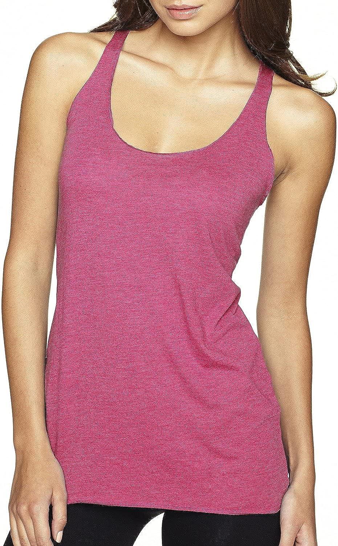 Next Level Women's Stylish Tri-Blend Racerback Tank Top, XX-Large, Vintage Pink