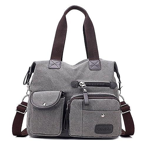 Women s handbag,Gindoly Multi Pocket Large Shoulder Bag Tote Fashion Handbag  Hobo Bags for Travel a860c6656b