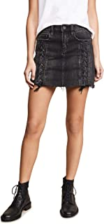 [BLANKNYC] Blank Denim Women's Lace Up Denim Skirt
