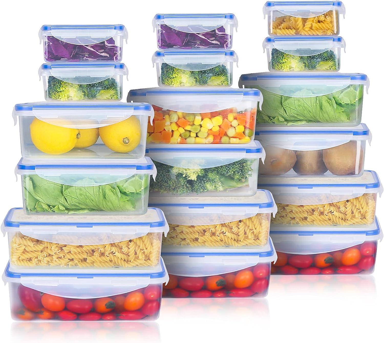 品質保証 Tauno 18 Pack Food 本物◆ Storage Container wit Containers Plastic