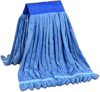 Microfiber Tube Mop Head Looped End Wet Mop Head Refill   Light-weight and Durable   For Home, Commercial And Industrial Use