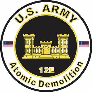 Military Vet Shop U.S. Army MOS 12E Atomic Demolition Window Bumper Sticker Decal 3.8
