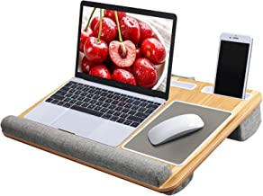 "Lap Desk - Fits up to 17"" Laptop Desk, Built in Mouse Pad & Wrist Pad for Notebook, MacBook, Tablet, Laptop Stand with Tab..."