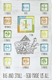 Dicksons Noah's Ark First Year Photo Wall Frame, White