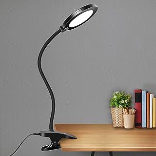 چراغ میز LED گیره GLFERA ، چراغ میز انعطاف پذیر میز Gooseneck ، 3 حالت روشنایی با 3 سطح روشنایی ، چراغ دفتر قابل تنظیم با آداپتور ، کنترل حساس به لمس ، عملکرد حافظه (سیاه)