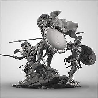 Risjc 1/24 75 mm forntida spartan soldat (3 personer) hartsmodellkit, självmontering omålad miniatyrmodell //N87249