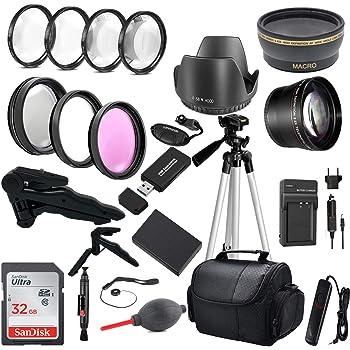 "T5i SL1 Xtech Accessory Kit for Canon Rebel T7 T5 T6 T6i Case SL2 T7i 77D Accessories Bundle EOS 70D 80D 90D DSLR Camera Includes 58mm Wide // 2X Telephoto Lens SL3 72/"" Tripod Filters"