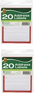 Duck Brand to/from Pressure-Sensitive Address Mailing Labels, 20 Label Pack (280048) - 2 Pack