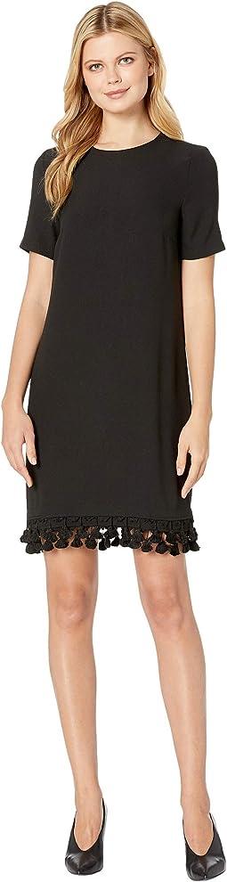 Short T-Shirt Dress w/ Bottom Tassels