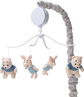 Lambs & Ivy Disney Baby Forever Pooh Bear Musical Baby Crib Mobile, Gray/Beige