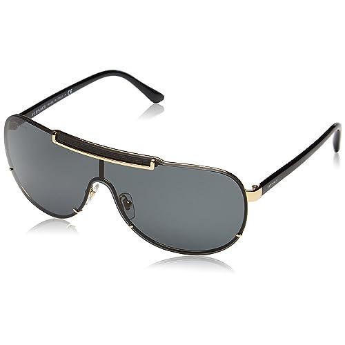 444fd9b00028 Versace Men s VE 2140 Rock Icons Greca Aviator Sunglasses