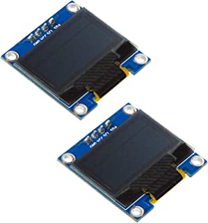 """UCTRONICS 2 Pack 0.96"""" OLED Display Module for Arduino, 12864 128x64 Pixel SSD1306 I2C Serial Mini Screen, Yellow and Blue"""