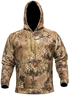 Tartaros Camo Hoodie with Spartan Helmet Logo - Hunting & Casual wear, 3D Layered Camouflage