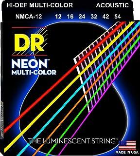 دي ار سترينغز NMCA-12 متعدد الألوان أوتار غيتار صوتي، ضوء NMCA-12