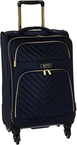 "Chelsea - 20"" Quilted Expandable 4-Wheel Upright Carry On"