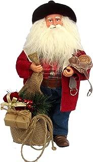 Santa's Workshop Leather Cowboy Santa Figurine, 15