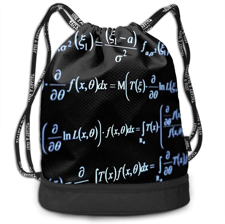 Gymsack Math Formula Equation Print Drawstring Bags Simple Shoulder