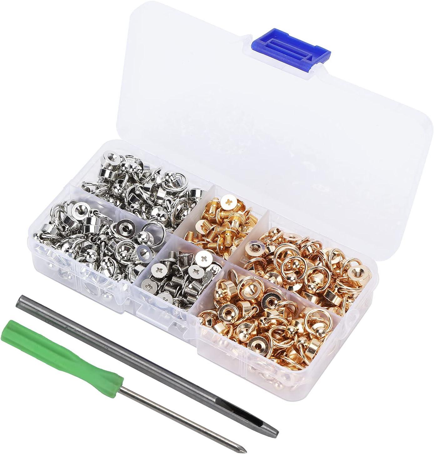Screw Rivets DIY Rings Brass Nippon regular agency L Fabric for Credence Material Bags