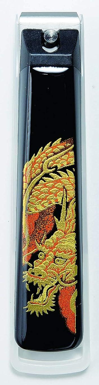 牛プール一時的山家漆器店 蒔絵 爪切り 龍 紀州漆器 貝印 日本製