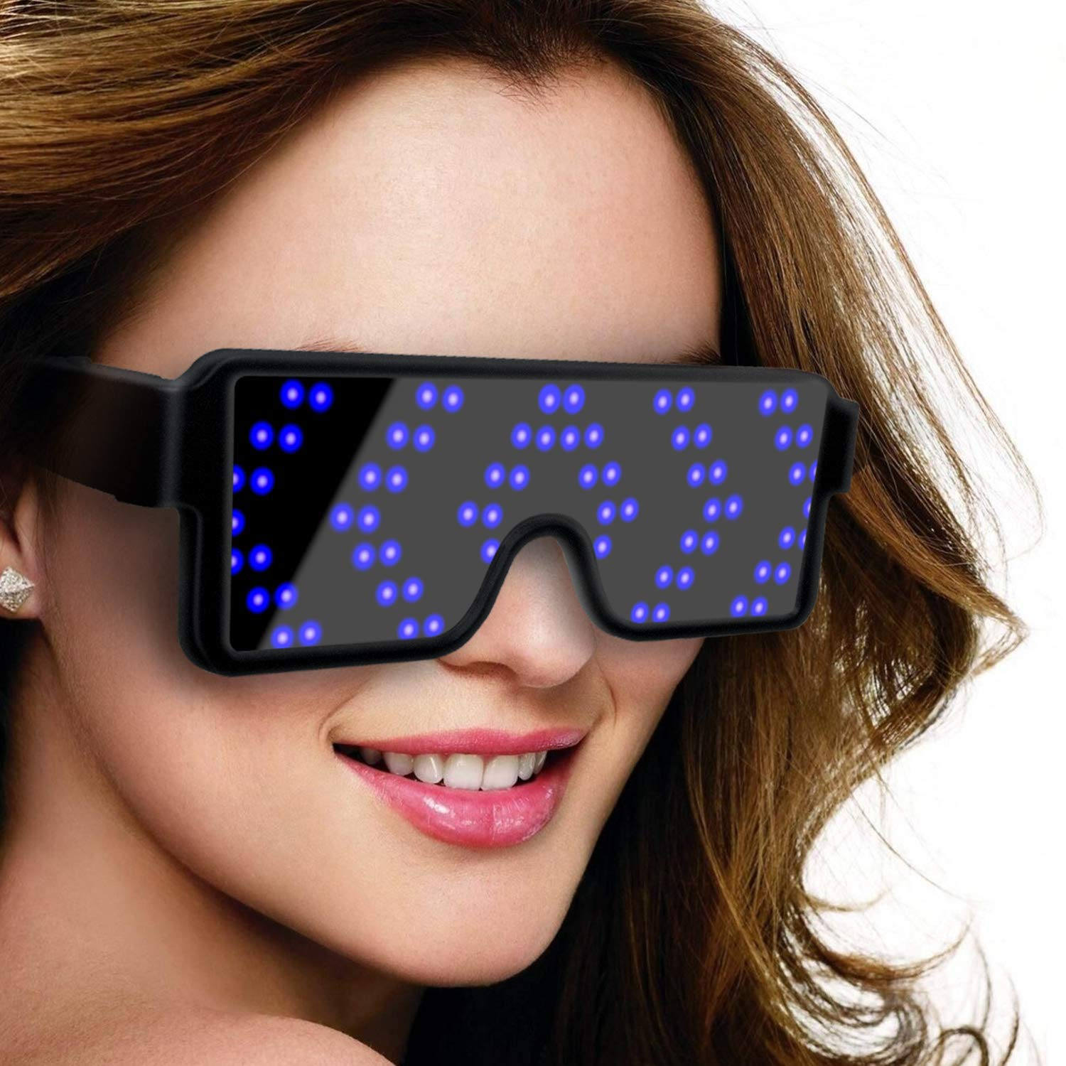 1X Sound Activated Control Led Flashing Glasses Glowing Birthday Party Mask Bar