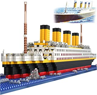 Top Spring Titanic Model Micro Block Building Set-1860pcs 3D Puzzle Gift for Kid and Adult
