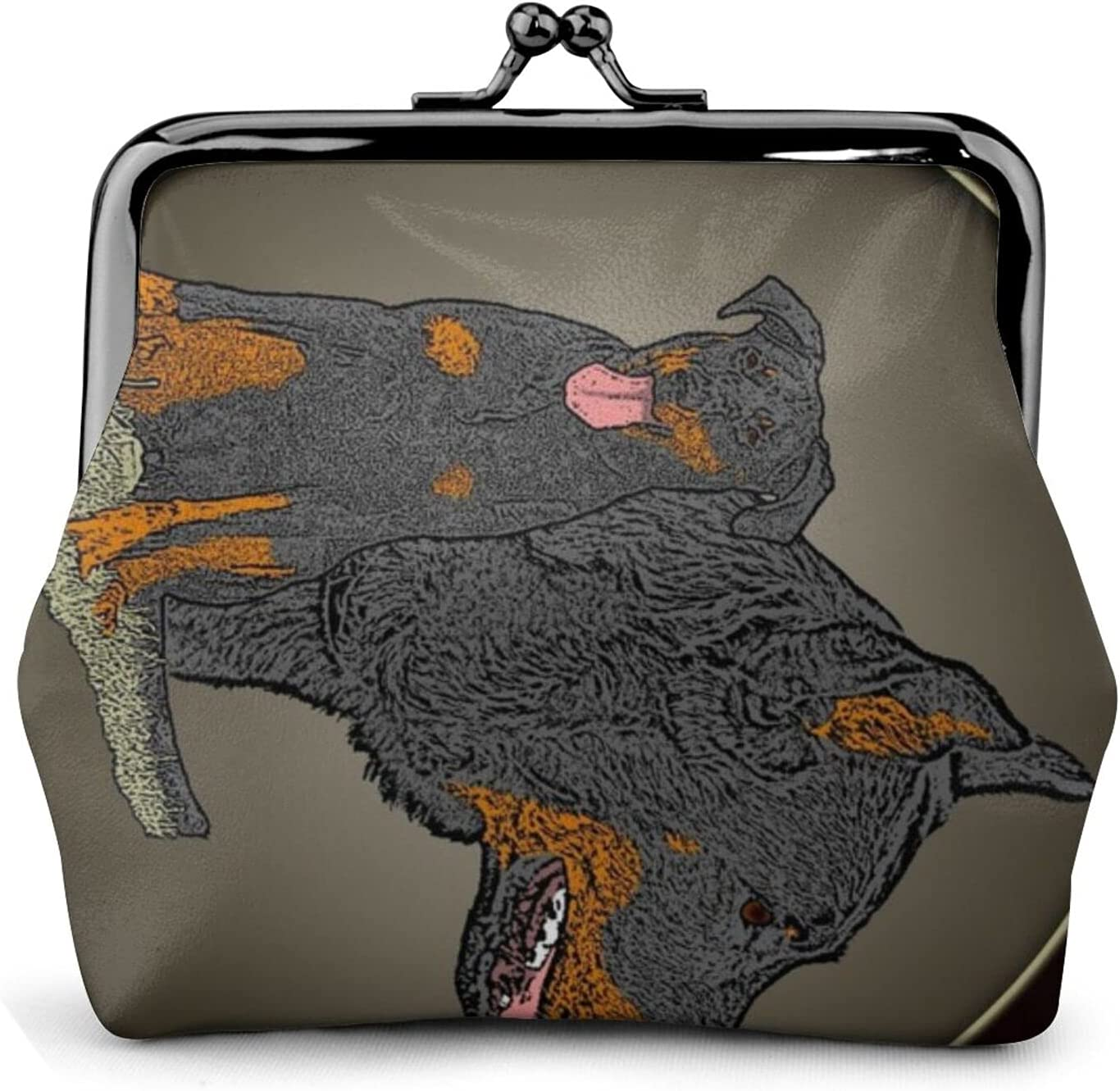 Beauceron Garden Flag 336 Coin Purse Retro Money Pouch with Kiss-lock Buckle Small Wallet for Women and Girls