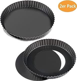 WisFox 2 Pack antiadherentes 8.8 pulgadas Quiche Tart Pan,